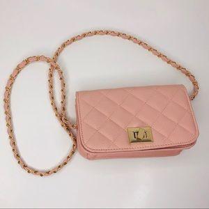 Charlotte Russ dusty rose purse